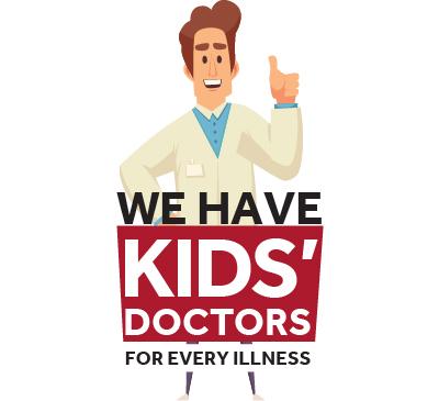 Tenemos médicos para niños para cada enfermedad